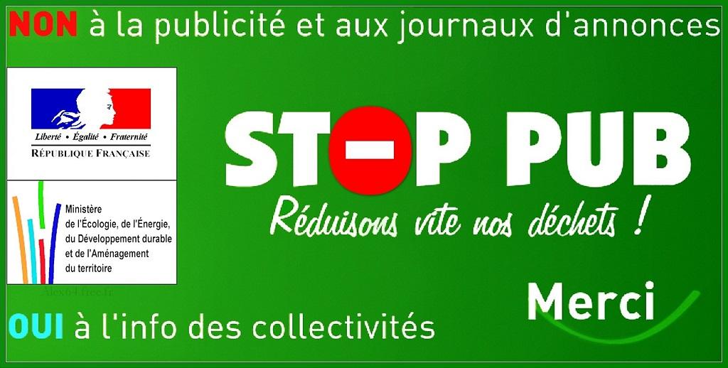 Stop pub autocollant